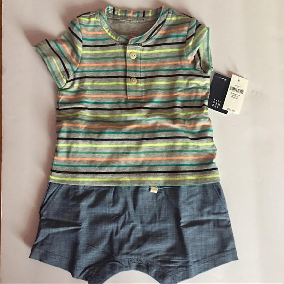 573430bd369a NEW with tag baby GAP 2-in-1 Henley onesies